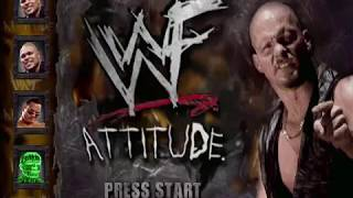 WWF Attitude-(1999) PS1 All Demo Version and Gameplay