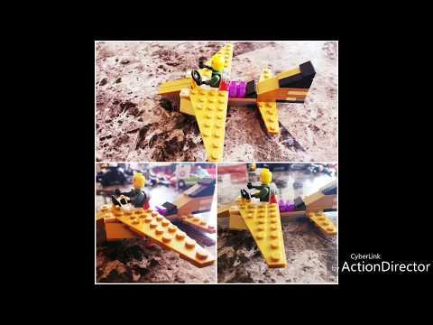 Lego Plane tutorial - How to build a mini Lego Aircraft