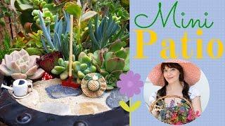 Fairy Garden Patio ~ Diy!!!