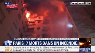 Incendie à Paris: ces images des sapeurs-pompiers témoignent de la violence des flammes