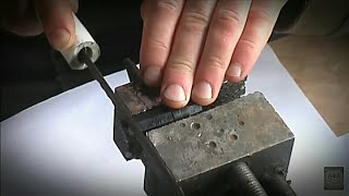 Распил медальона с раскопок по войне /  Excavations of Soviet soldiers WW2