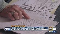 Man gets high water bill, despite shutting it off