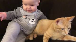 A Baby and her Kitten