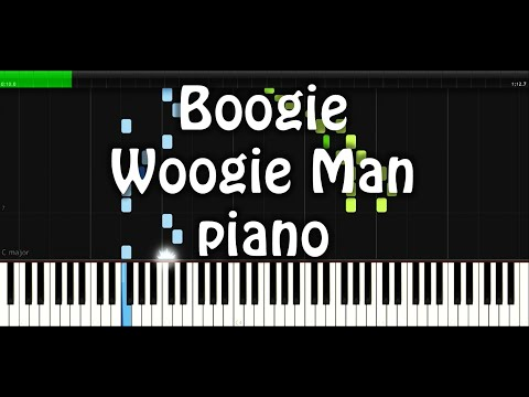 Boogie Woogie Man piano sheet/partitura/midi