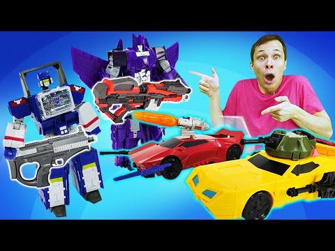Видео игры с Трансформерами - Оптимус и Бамблби против Десептиконов! – Новые игры для мальчиков