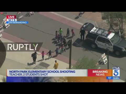 LIVE: Police gather in San Bernardino after four shot at elementary school