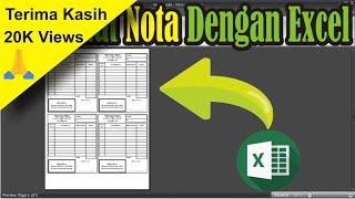 #Tutorial Cara Membuat Nota Dengan Microsoft Excel • Simple News Video