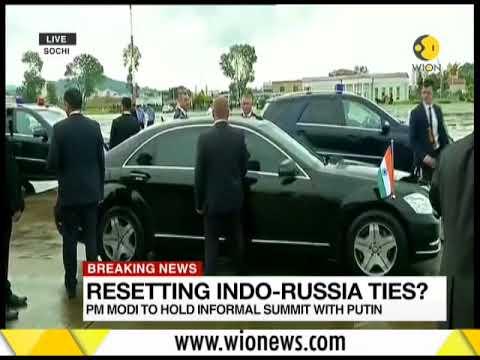 Narendra Modi reaches Russia for informal Summit with Putin