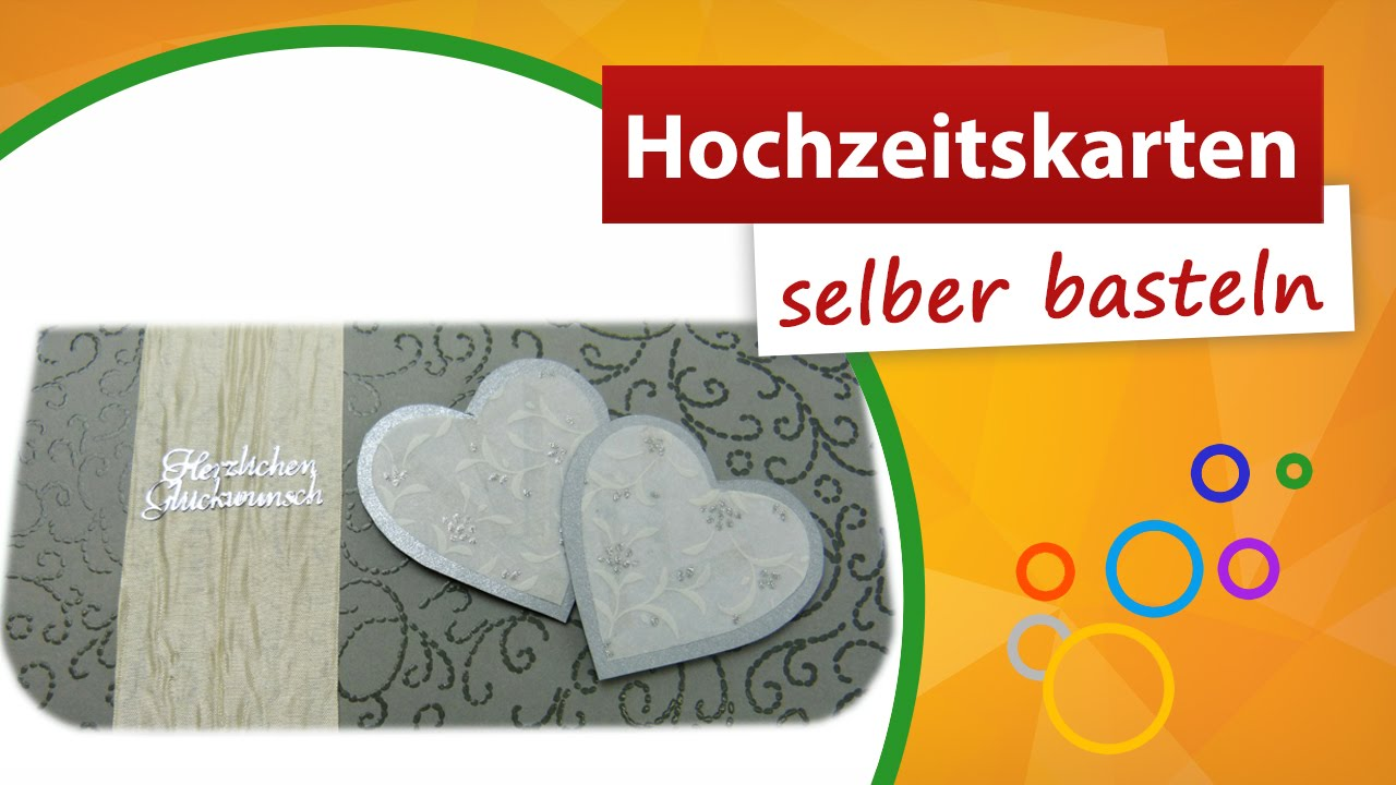 hochzeitskarte selber basteln dankesch n karte trendmarkt24 youtube. Black Bedroom Furniture Sets. Home Design Ideas