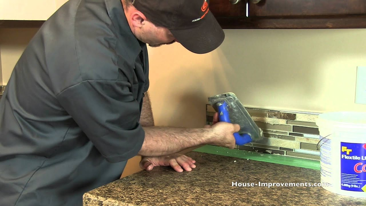 Great How To Grout A Mosaic Tile Backsplash   YouTube