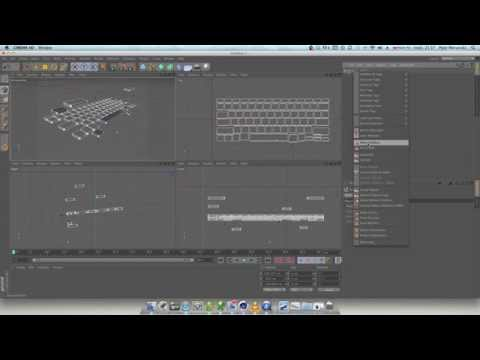 Alingment objects in Cinema 4D C4D all objects to one axis. Arrange object