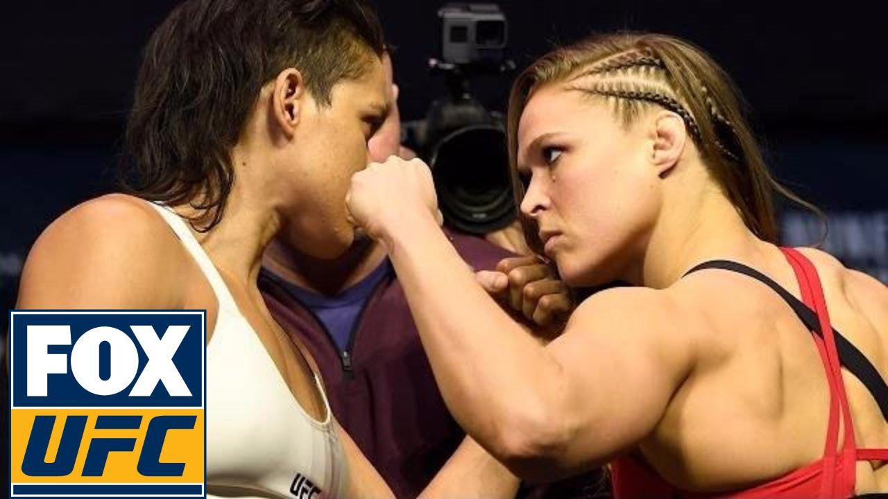 Ronda Rousey Vs Amanda Nunes Weigh In Ufc 207 Youtube
