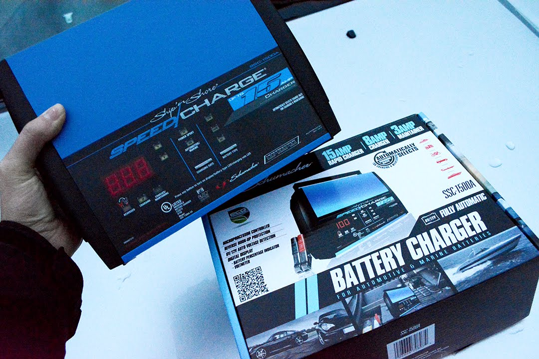 Deep Cycle Marine Battery Charger >> Our Off Grid Rv Battery Charger Solution Schumacher Battery Charger Unboxing