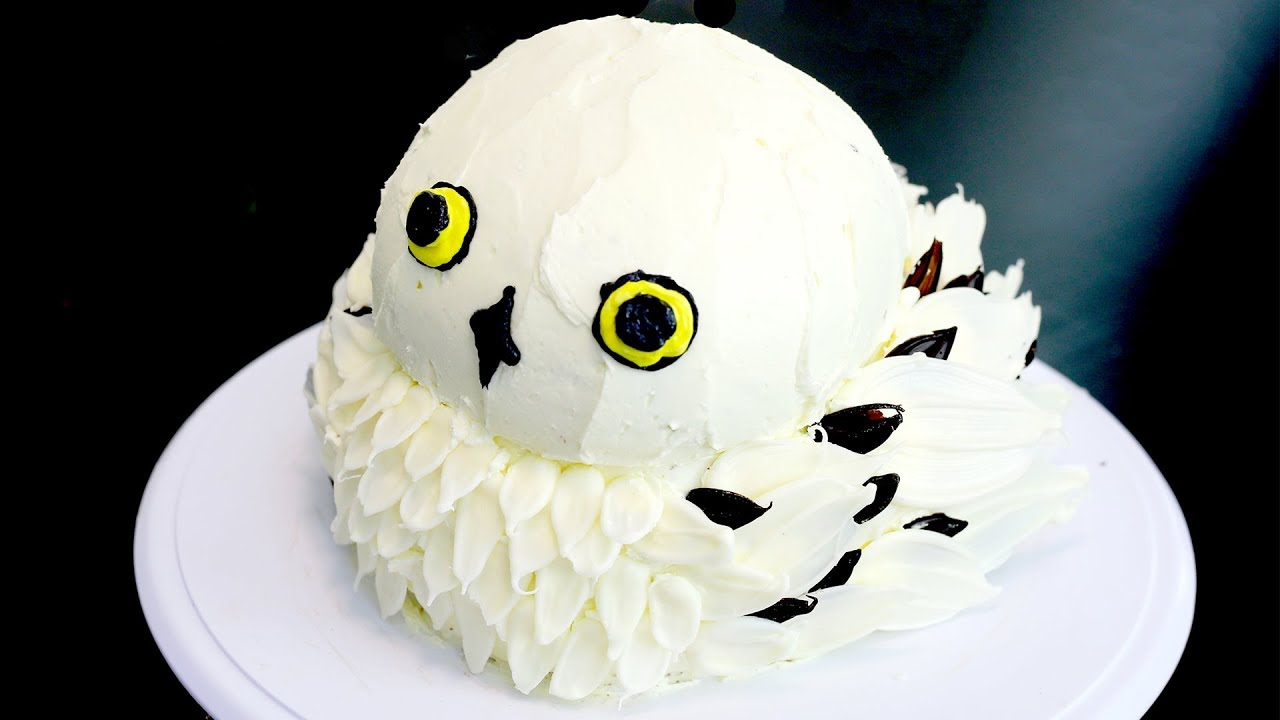 How To Make A Hedwig Owl Cake From Harry Potter Recipe Youtube
