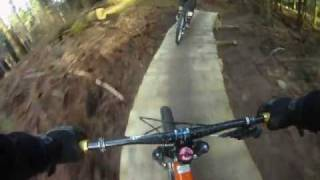 Llandegla B-Line new black run November 2011 part 1