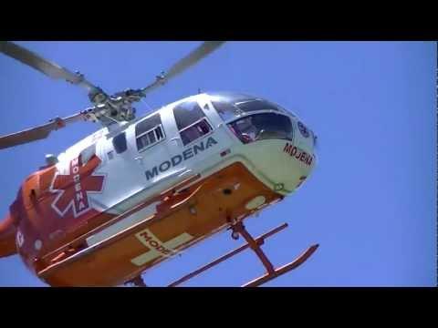LA HERMANDAD DE BOMBEROS / Evacuación Aero-médica de Helicópteros de MODENA en ...
