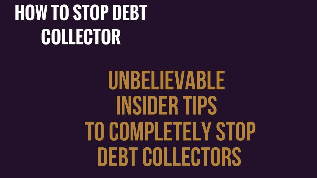 how to get debt collectors to stop texting