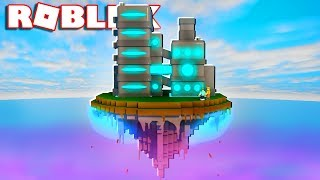 BUILD A FUTURISTIC FACTORY IN THE SKY IN ROBLOX!