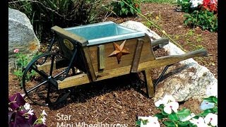 Amish Made Mini Wheelbarrow Planter