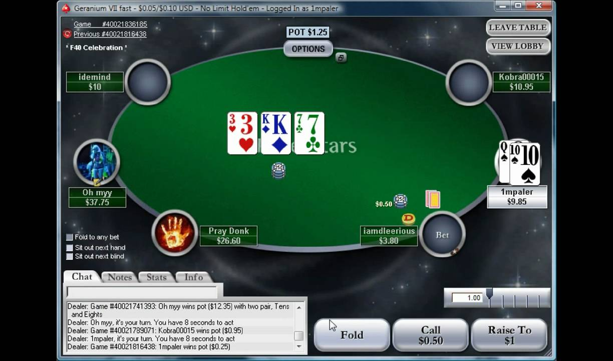 Poker Cash Game Online