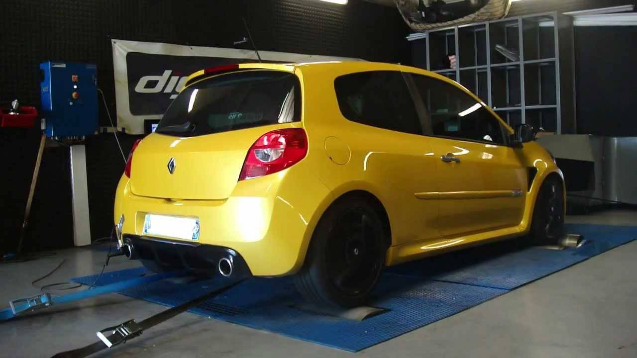 renault clio 3 rs 203cv 199cv reprogrammation moteur dyno digiservices youtube. Black Bedroom Furniture Sets. Home Design Ideas