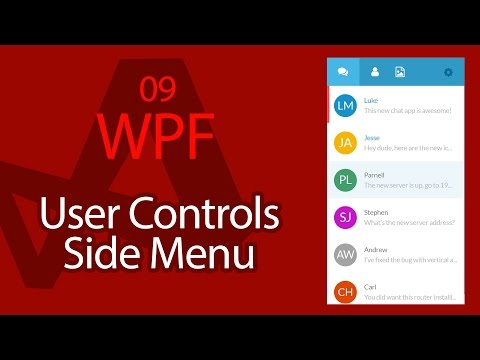 C# WPF UI Tutorials: 09 - User Controls Side Menu Content