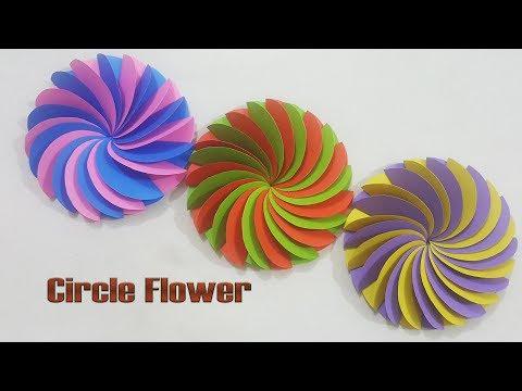 DIY - Paper Circle Flower, Beautiful Paper Flower Tutorial || Craft Ideas #129.