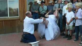 Bad To The Bone Garter Dance: Kenny & Amber's Wedding, 6.30.2012, Cottonwood Guest Ranch