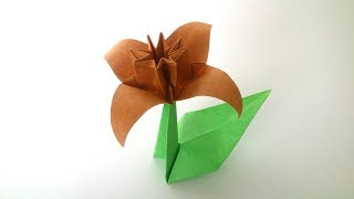 Origami Narcissus ( František Grebeníček) - Origami Flower Tutorial