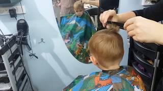 VLOG парикмахерская ВЛОГ✂️Детская  Стрижка для мальчика под машинку. ✂️ VLOG beauty salon kid's