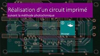Réalisation d'un circuit imprimé - 04 Décapage - FR