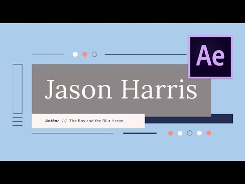 After Effects Text Animation – Simple & Clean Title Design