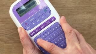 كيفية إنشاء شخصية شرائط مع الأخ P-touch كرافت الشريط & Label Printer - الجزء 1