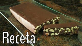Turrón crujiente de chocolate ~ ¡Receta fácil y rápida!