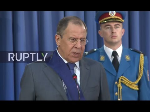 LIVE: Lavrov to be awarded Order of the Serbian Flag of the first degree in Belgrade