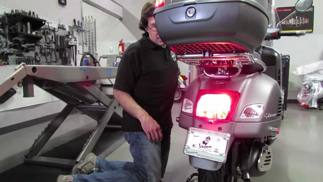 Upgrading Taillight to LED on a Vespa GTS - YouTube