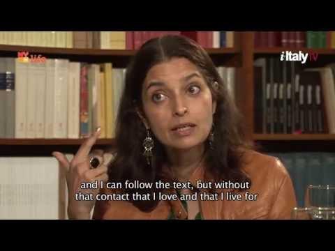 Falling in Love with the Italian Language.  with Jhumpa Lahiri