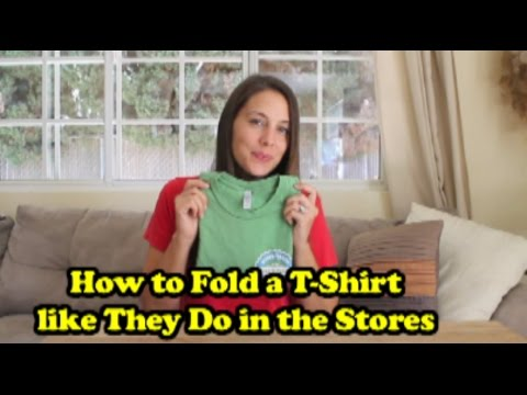How to Fold a T-Shirt like They Do in the Stores