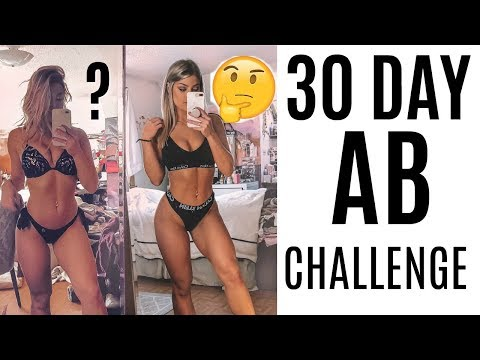 I Did A 30 DAY AB Challenge And This Is What Happened....