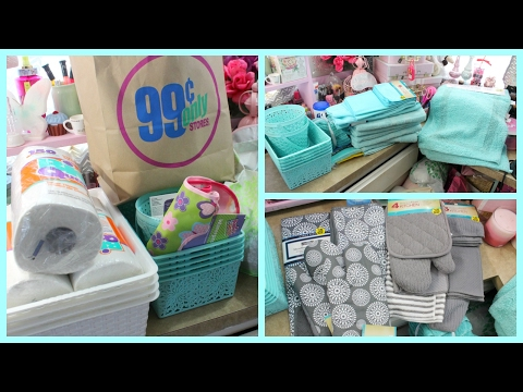 99 Cent Only Store Haul!!! (TEAL BATHROOM GOODIES AND MORE!)