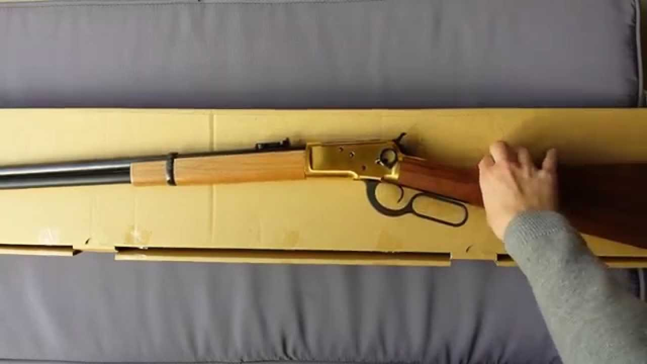 Marushin Winchester 1892 Dx Gold Review Airsoft Youtube
