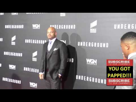 Anthony Hemingway at the WGN America's Underground World Premiere at Ace Hotel in Los Angeles