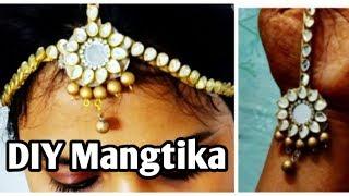 Mangtika| DIY mangtika |headchain |navratri matthapatti| navratri ornament|handmade jewellery|garba