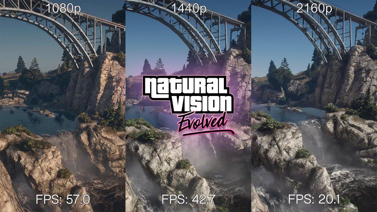 GTA 5 - NaturalVision Evolved - BENCHMARK Test - 1080p, 1440p ...