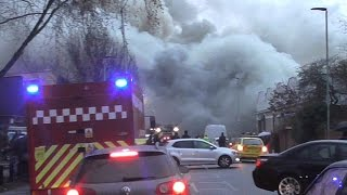 Large industrial Fire in Tottenham - Emergency Services Responding + on scene