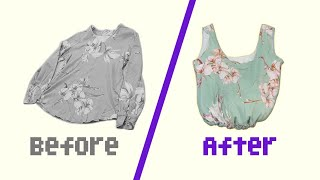 너무 간단한 티셔츠 리폼 / 미싱없이 가방만들기 / 업…