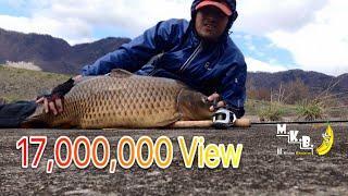 Repeat youtube video ตกปลาในแม่น้ำ ผิดคิวโดนปลาใหญ่ 9+kg.