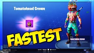 FASTEST WAY TO UNLOCK TOMATOHEAD CROWN!! (Fortnite Battle Royale)
