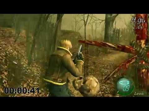 Resident evil 4 speedrun UHD 1:39:06 new game professional, 바이오하자드4 타임어택 H.gu [흐구]