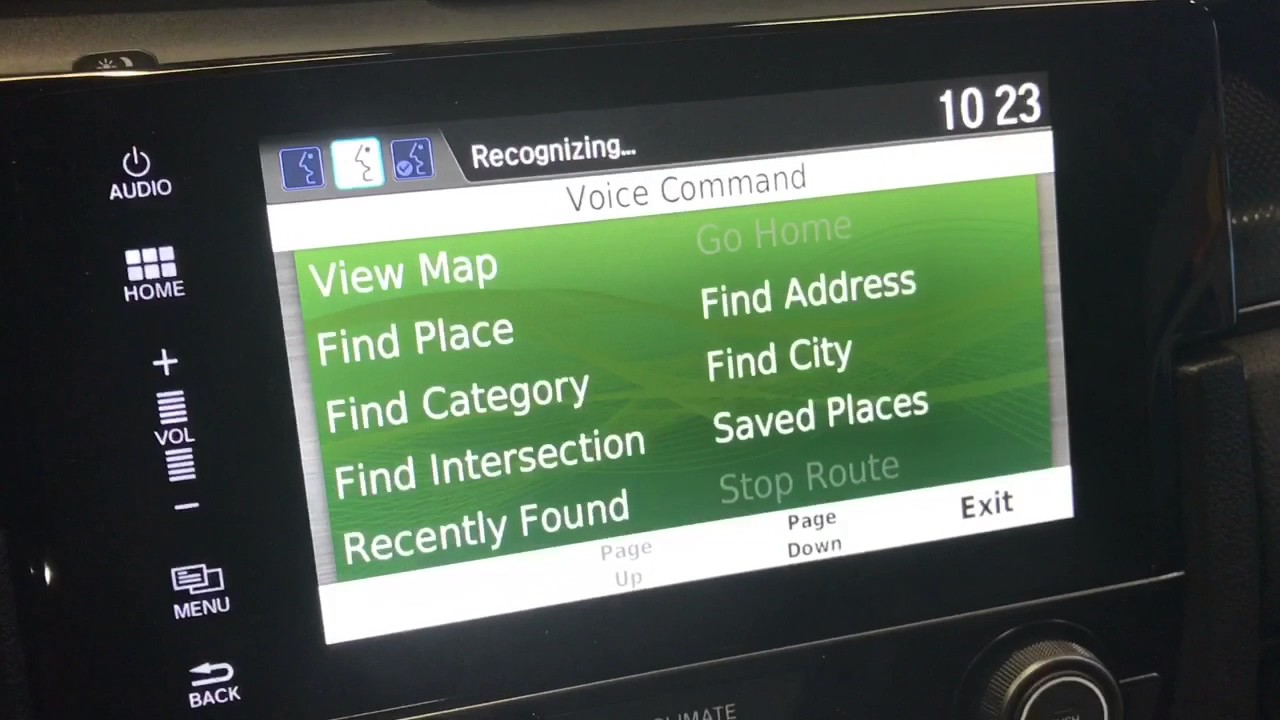 How To Us The Honda Voice Recognition To Control The Satellite Linked  Navigation System